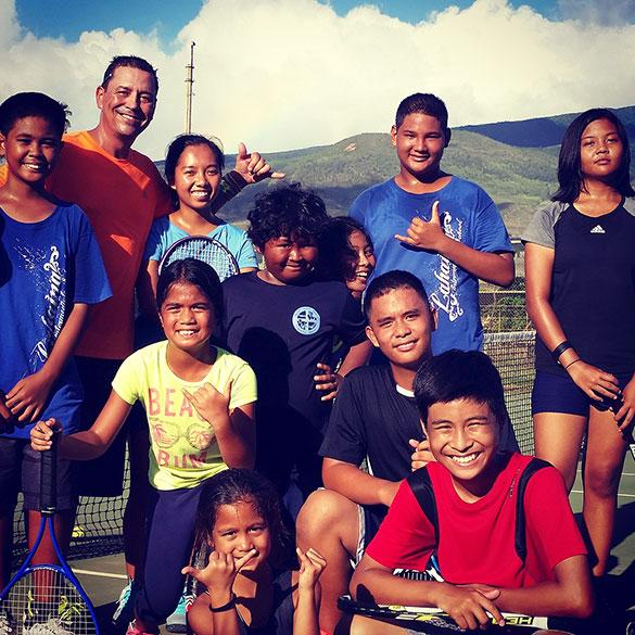 keiki group tennis lesson